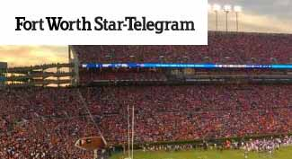 Fort Worth Star Telegram Story on College Football Ticket Prices at TicketCity