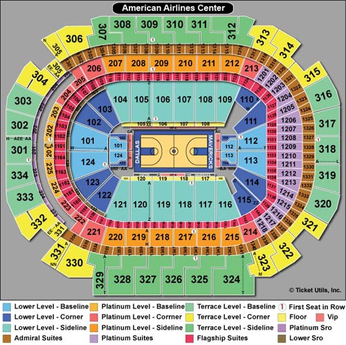 American Airlines Center Basketball Seating Chart
