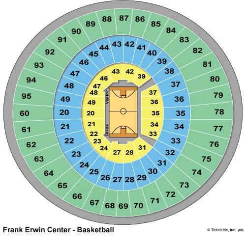 Frank Erwin Center Basketball Seating Chart