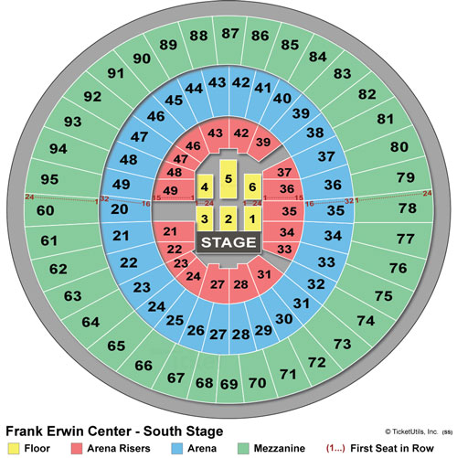 South Stage Seating Chart