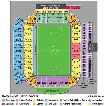 StubHub Center Soccer Seating Chart