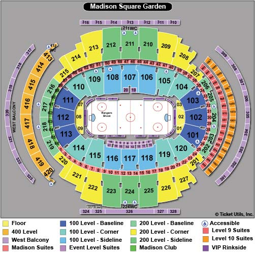 Madison Square Garden Hockey Seating Chart