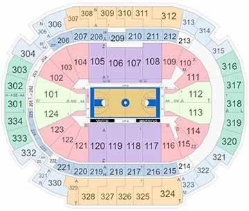 AAC Basketball Seating Chart