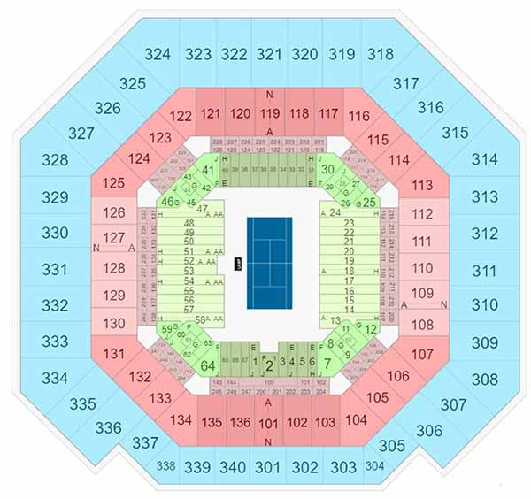 Arthur Ashe Stadium Seating Chart