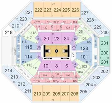 AT&T Center Basketball Seating Chart