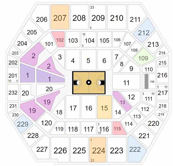 Bankers Life Fieldhouse Seating Chart - Big Ten Tournament