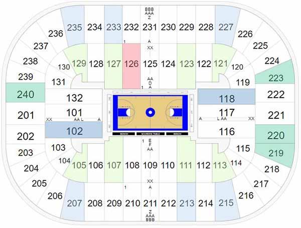Greensboro Coliseum Seating Chart - ACC Tournament