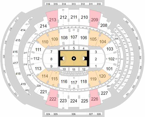 Madison Square Garden Seating Chart - Big East Tournament