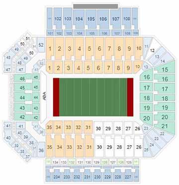 OU Memorial Stadium Seating Chart