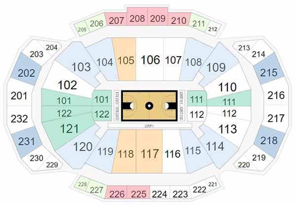 Sprint Center Seating Chart - Big 12 Tournament