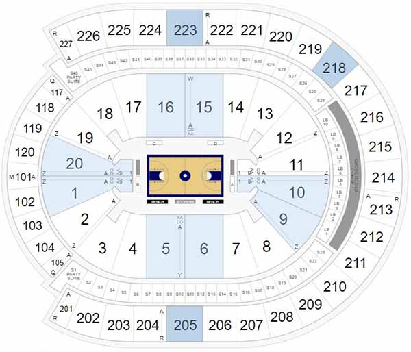 T-Mobile Arena Seating Chart - Pac 12 Tournament