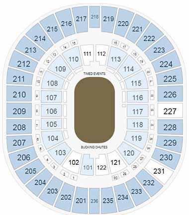 Thomas & Mack Center Seating Chart for NFR